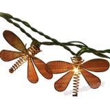 10 Bulbs Christmas Lights Metal Dragonfly String Lights for Home Garden Patio Party Wedding Indoor Outdoor Hanging Decoration, Green Wire,Item Code:10MIDRGN