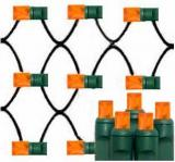 Orange led net lights 5mm Wide Angle Les,4´×6´,Green Wire,Item Code:5M100ORG