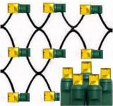 Gold led net lights 100L 5mm Wide Angle Les,4´×6´,Green Wire,Item Code:5M100GDG