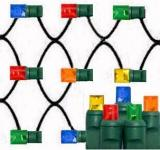 Multi color net lights 5mm Wide Angle Les,4´×6´,Green Wire,Item Code:5M100MUG