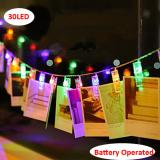 30LED Photo Clips Multicolor Fairy String Lights Battery Operated Perfect for Hanging Pictures, Cards, Memos,Item Code: 30CLMUBA