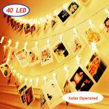 40LED Photo Clips Fairy String Lights Solar Operated Perfect for Hanging Pictures, Cards, Memos,Item Code: 40CLWWSO