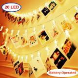 20LED Photo Clips Warm White Fairy String Lights for Bedroom Battery Operated Perfect for Hanging Pictures, Cards, Memos,Item Code:20CLWWBA