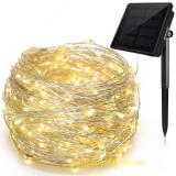 200LED Fairy Lights 8 Modes 3-Strands Copper Wire 72 ft Waterproof IP65 Solar String Lights Warm White Outdoor Indoor Patio Garden Christmas Decorative Item Code:200CWWSO