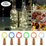 20LED 38in 6Pcs Cork Lights 6 colors for Wine Bottles, Bottle Lights  Copper Wire Lights String Starry LED Lights for Bottle DIY, Party, Decor, Christmas, Halloween, Wedding Decoration Item Code:20CB6CBA