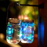 6 Pack 20 Led String Fairy Star Firefly Jar Lids Lights,6 Hangers included(Jars Not Included), Best for Mason Jar Decor,Patio Garden Decor Solar Laterns Table  Item Code: 20JLMUSO